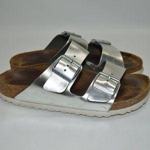 Birkenstock Arizona Soft Footbed Metallic Sandal 7